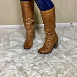 Jessica Simpson Shoes - Jessica Simpson Cognac Leather Knee High Boots